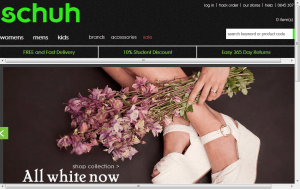Preview 3 of the Schuh website