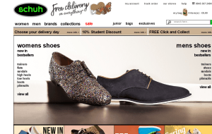 Preview 2 of the Schuh website