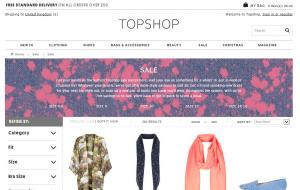 Preview 2 of the Topshop website