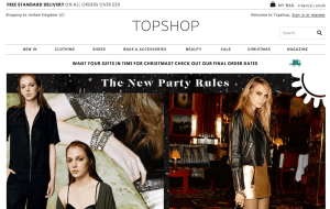 Preview 3 of the Topshop website