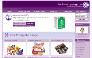 Preview 3 of the Funky Hampers website