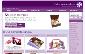 Preview 2 of the Funky Hampers website