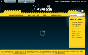 Preview 2 of the Legoland Windsor website