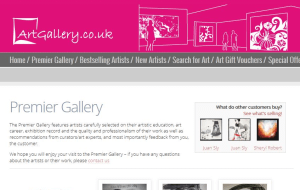 Preview 2 of the Art Gallery website
