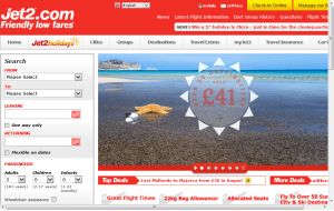 Preview 3 of the Jet2 website