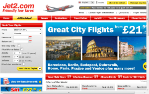 Preview 2 of the Jet2 website