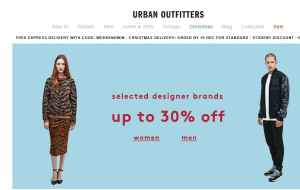 Preview 3 of the Urban Outfitters website