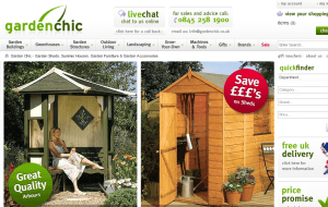 Preview 2 of the Garden Chic website