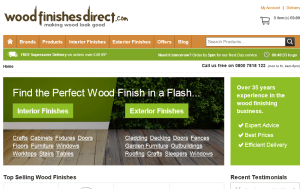 Preview 3 of the Wood Finishes Direct website