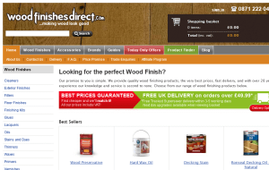 Preview 2 of the Wood Finishes Direct website