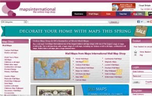 Preview 3 of the Maps International website