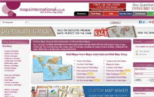 Preview 2 of the Maps International website