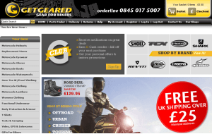 Preview 3 of the Get Geared website