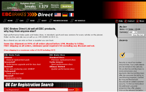 Preview 2 of the EBC Brakes Direct website
