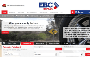 Preview 3 of the EBC Brakes Direct website