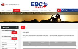 Preview 4 of the EBC Brakes Direct website