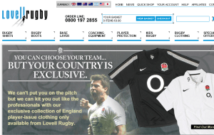 Preview 2 of the Lovell Rugby website