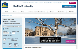 Preview 3 of the Best Western Hotels website