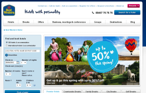 Preview 2 of the Best Western Hotels website