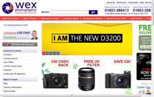 Preview 2 of the Wex Photographic website