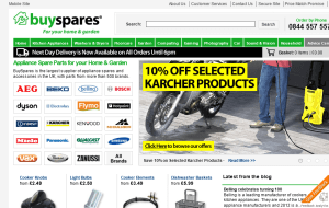 Preview 2 of the Buy Spares website