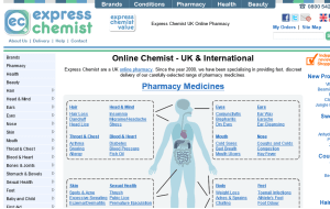 Preview 3 of the Express Chemist website