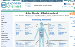 Preview 2 of the Express Chemist website
