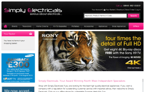 Preview 4 of the Simply Electricals website