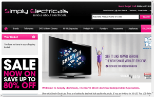 Preview 2 of the Simply Electricals website
