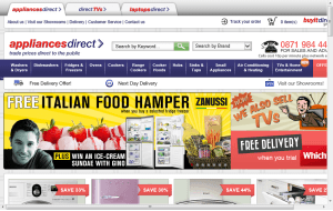 Preview 3 of the Appliances Direct website