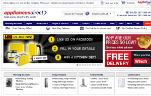 Preview 2 of the Appliances Direct website