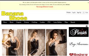Preview 3 of the Banana Shoes website