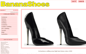 Preview 2 of the Banana Shoes website