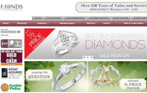 Preview 3 of the F.Hinds Jewellers website