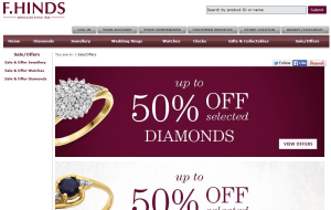 Preview 4 of the F.Hinds Jewellers website