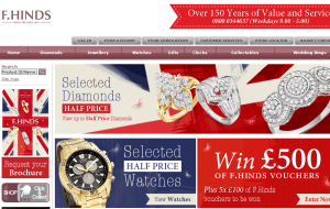 Preview 2 of the F.Hinds Jewellers website
