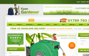 Preview 2 of the Keen Gardener website