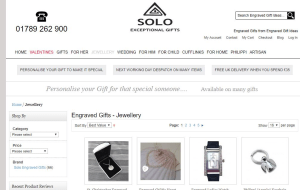 Preview 2 of the Solo Exceptional Gifts website