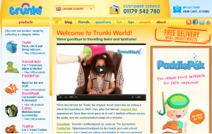 Preview 3 of the Trunki website