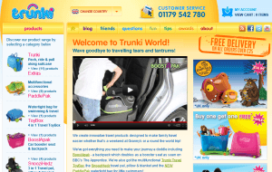 Preview 2 of the Trunki website