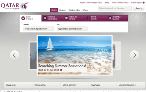 Preview 3 of the Qatar Airways website