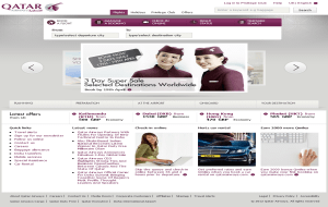 Preview 2 of the Qatar Airways website