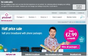 Preview 3 of the Plusnet website