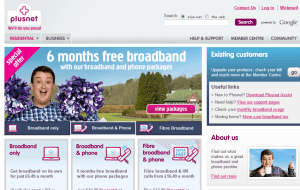 Preview 2 of the Plusnet website