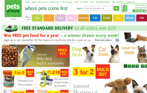 Preview 2 of the Pets At Home website