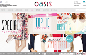 Preview 2 of the Oasis website