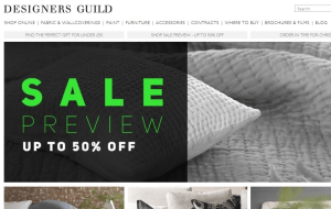 Preview 2 of the Designers Guild website