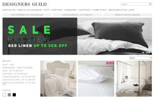 Preview 3 of the Designers Guild website