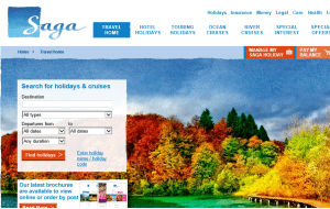 Preview 3 of the Saga Holidays website