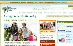 Preview 3 of the Royal Horticultural Society website